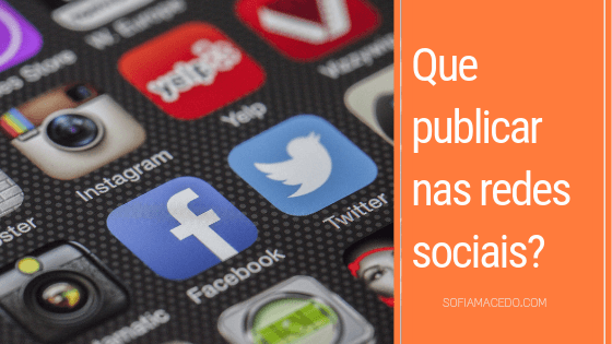Que publicar nas redes sociais